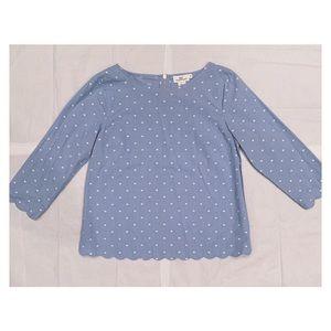 Vineyard Vines Scallop PokoDot Shirt -Blue